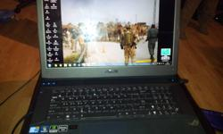 its an ASUS gaming laptop, one 3.0 USB BlueRay, 1TB HDD, 8GB DDR Ram, 1.5GB Geforce GTX 460M cuda, I7 Processor Bluetooth, Aluminated Keyboard!comes with a corded gaming mouse from asus never used and a back pack also Asus any questions send me a txt or