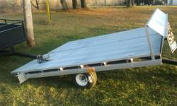 New trailer 9 foot 8 by 9 foot 8 2 inch ball side and center tie downs 3500 lb axel fat boy tires