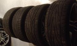 """Aftermarket Audi 19"""" wheels in near perfect shape, some light scuffs Tires are just about at wear bars 245/35 ZR19 is the size of present tires Text 6134848685"""