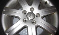 Michelin 205/55P 16 91H Audi Tires on Audi Rims x 4