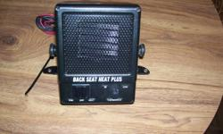 Back seat heater 12volt withfann and heat settings used very little.Asking $45 or best offer.