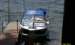 191 Starcraft Islander. New Engine in 2011, ZERO hours. 15 hp merc four stroke kicker. Galvanized E-Z loader trailer with surge brakes. 2 Big Jon electric riggers, lowrance lcx 18c, cannon speed temp, marine radio, cd player with mp3 jack, livewell, fully