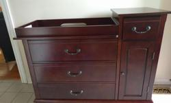 We are selling this beautiful Baby Dresser. It was very gently used and is still in very good condition. I believe we originally paid roughly $400 brand new from Sears. This is much better quality than anything you would find at Ikea. - The top area is