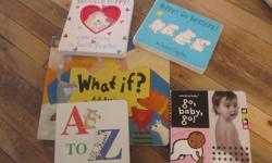 """Board books are expensive right?! Here's a nice little collection to get anyone started! A great gift for the eco-friendly Mom. 10 gently used board books. """"Hippos Go Bersek!"""" By Sandra Boynton """"Go Baby Go"""" by the 'Amazing Baby' series 