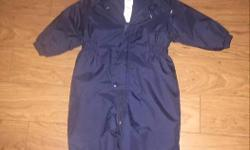 Baby GAP one-piece snowsuit, navy blue. Size 12-24 months. In very good condition.