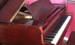 Schaff Baby Grand built in Chicago 1930. Fully restored 1989. Tuned every 6 months and maintained by professional piano technician since restoration. Measures 5'2. Contact available for professional piano mover. Matching piano bench included. This ad was