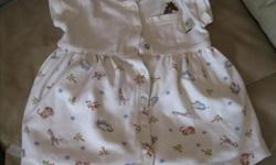 Baby Roots dress Size SMALL Primary Color - Beige with animals on it REALLY CUTE!! 100% cotton ONLY $10 Can meet in west end of ottawa (kanata) or pickup in Constance Bay