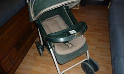 Baby Stroller, Eddie Bauer Newer photos You might need a great used stroller now or in the near future. Easy to set up and transport, this Eddie Bauer stroller for one child, roomy, shields from the sun and rain and has storage room underneath along with
