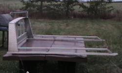 "Aluminum backrack 63""wide inside box,for 6.5ft box Was on Chev short box"