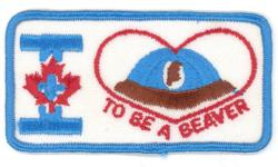 Scouting Memorabilia     A must have for the Collector or your young Beaver?s Campfire Blanket   Badge - Scouts Canada - Beavers - I Love To Be A Beaver         Scouts ? Canada ? Beavers ? Cubs