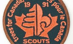 Scouting Memorabilia   Badge - Scouts Canada - Trees for Canada - 1991           Scouts ? Canada ? Beavers ? Cubs