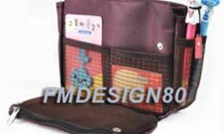 BAG IN BAG Multi-function Storage Bag Space-saving Colour: Brown and Pink Brand New This bag is perfect for any woman who wants to stay organized while still looking like fashion royalty. Perfect for organizing your personal cosmetics, books, and other