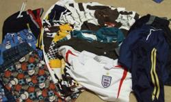 Size L 4 PJ bottoms 2 Swim tunks 7 short sleeve shirts 5 collared shirts 1 long sleeve shirt