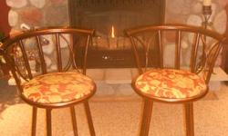 Two swivel bar stools for sale $25 each or $40 for the pair.