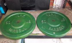 2 X 50 lbs barbells for sale. Only $75. We are located in Orleans. See our list of other items for sale. First come, first served.