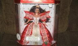 Holiday Barbie Special Edition 10th Ann. 1997,Mattel 17832,NRFB (never removed from box)$75.00, Snow Princess Barbie Limited Edition,1994 Mattel 11875, NIB $65.00, Winter Rhapsody Barbie, Avon Exclusive 1996 Mattel 16873 NRFB $25.00, Winter Velvet Barbie
