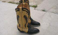 Like New Men's Size 8 1/2 Cowboy boots barely used. Worth $175.00