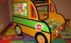 Battat activity school bus. Retails for $300+, asking $100 for it. So many fun and long lasting activities! A MUST have for ANY daycare!! Pick-up only. NO holds!