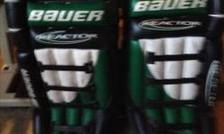 "I have a pair of Bauer 34"" Adult Goalie Pads for sale."