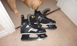I know summer is here but, why not get ready for winter fun that is soon to come?!?!?! Check out these Bauer Air 30 Comfort Fit hockey Skates! Size 8 Men's; fit women size 9 Barely Used Excellent Condition Adorable dog NOT included - Dog NOT for sale! :)