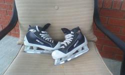 BauerOne55 Goalie Skate, size 5. Still lots of blade and are still in great shape.
