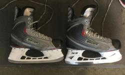 Size 8.5EE. Only used one season playing seniors drop in hockey.