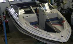 NEW SEATS AND TOP. GREAT STARTER BOAT AT A GREAT PRICE. IT HAS A 3.0L OMC STREN DRIVE PRICE EXCLUDES TAXES   THIS BOAT DOES NOT HAVE A TRAILER WITH IT BUT I DO HAVE SOME AVAILABLE.   CALL CHRIS FOR MORE DETAILS 705-789-3932