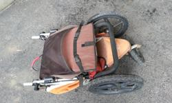 Selling one beat up old Bob Revolution stroller. It may not look very pretty, but it gets the job done. There's rust and sun-fading, but it could be cleaned up if you are looking for a DIY project. Five point harness, swivel front, easy fold, canopy,