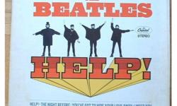 Beatles Help! Movie Soundtrack. Gatefold cover. Green Capitol reissue from 1969 of this 1965 LP. Stereo pressing, serial # SMAS 2386. Light soiling on front and back cover; light ring wear on back cover, vinyl: Very fine. Pick up or mail out only, buyer