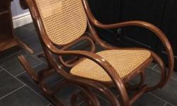 Beautiful Antique Bentwood Rattan Rocking Chairs. Newly refinished. Asking $150 OBO each. Smoke-free home. Pick up in Winchester. Willing to deliver to Ottawa within reason.