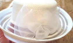 Selling Women's Dress Hat - Brand New (by Farbella) - Perfect for Wedding or Sunday Church Service or Special Function - Colour is Pure White with large bow on back - Price: $50 (Regular $100) Buy both and price is further reduced to $100. - Selling off