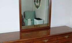 "Beautiful 9 drawer antique Mahogany dresser with mirror Measures 76"" long x 20""wide Excellent condition/quality furniture Email or phone after 3 PM"