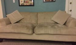 Couch is in used but good condition. It will come with the 2 small pillows as well. Must be picked up. We want to get rid of it quickly as we no longer have room for it which is the reason for such a low price! Cross posted