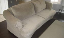 Excellent condition. Beige Microfibre couch.  Seats 3.  Approximately 3 feet deep by 6 feet long.  See pictures for more details.  Approximately 4 years old.  Reason for selling - Moving.