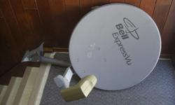 A working dish for regular ExpressVu programs. For HD TV you'd have to add a LNB for $5. Also you'd need a SW21 switch. Call 705-949-5352
