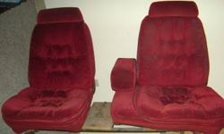 as seen in add this seat was out an 84 chevy 1/2ton possable fit 73 - 87 chevy its red buckets welded to the frame the main frame will move but the seats dont what so ever both red buckets are permanant and dont move they used to be electric ,as seen in