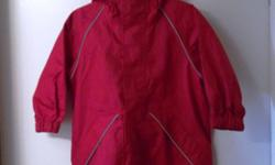 BRAND NEW! WATERPROOF RAINCOAT MADE OF RIPSTOP WOVEN NYLON WITH POLYURETHANE MICROPORUS COATING. FULLY TAPE SEAMS DEFY WATER FROM REACHING INSIDE. REFLECTIVE PIPING. ELASTIC CUFFS SEAL OUT WIND. SURE TO KEEP YOUR LITTLE ONE WARM AND DRY REG.PRICE $55.00 +