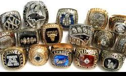 BEST XMAS GIFT = Championship Rings - Just Like the Pros - ANY YEAR, ANY TEAM, ANY SPORT BEST XMAS GIFT = Championship Rings - Just Like the Pros -