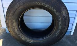 one BF Goodrich TA tire excellent condition 265-70-17 10 ply 80-85% wear left