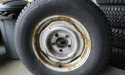 """I have for sale a pair (2) of BF Goodrinch winter tires with rims. Tire size is P235/70/R15 with 85% tread left and are in excellent condition. The rim size and pattern is 15""""x6.5"""", 5 x 5"""" bolt pattern(chevy)mostly in 93-04, rust on rims are just surface."""