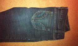Big 7 jeans, greyish blue jean with turquoise stitching This ad was posted with the Kijiji Classifieds app.