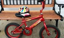 Comes with training wheels not included in the picture bike is in good condition