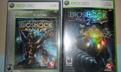 like new video games Bioshock has only been played once & Bioshock 2 has never been played they are in original cases, they have their booklets and are 100% scratch free trading as long as you have what i want and its game for game or 2 for 2... no horror