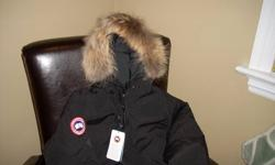 """Black Canada Goose """"Yukon"""" bomber Jacket. Brand new! Tags still on....size L....fits on the small side. Regular price $624.00 will sell for $400.00. Stylish and warm....won't be disappointed!"""