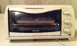 I'm selling a Black & Decker Toaster Oven. Very good condition. Hardly used. Comes with tray and even the manual. Asking $10 obo. Want it gone fast so make me an offer. This ad was posted with the Kijiji Classifieds app.