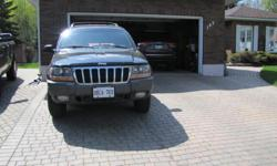 Make Jeep Year 2000 Colour Black Trans Automatic kms 133000 133,000km, 4x4, V8, automatic. This vehicle has been well maintained, clean interior, factory hitch. Tires are like new. Asking price $2,000. Sold as is.