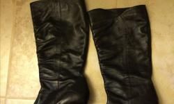 For sale beautiful soft black leather boots from Aldo. Size 38 or about a 7.5 to 8. The boots were $140 new last year from Aldo. My MIL had them first and wore them once. I got them for Christmas but I already have too many boots. ( I know, who thought