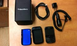 Offering a silver BlackBerry Curve 3G 9300.   Dimensions:   Height: 109 mm (4.29 inches) Width: 60 mm (2.36 inches) Depth: 13.9 mm (0.55 inches) Weight: 104 grams (3.7 ounces)   Highlights: 3G network support Optical trackpad Full QWERTY keyboard