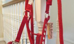 Sure to get noticed with this halter and matching lead .Tags are still attached.