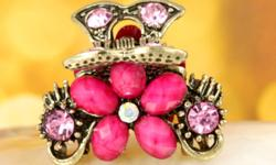 Mini Flower Hair claw Size:26*13mm ( 1.02*0.51 inch ) More than one available